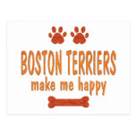 Los terrieres de Boston me hacen feliz Postal