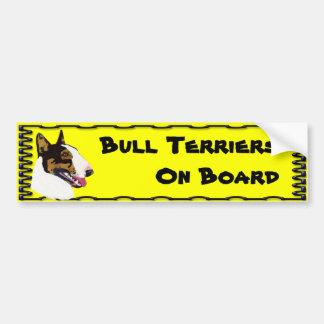 Los terrieres de Bull son impresionantes Pegatina Para Auto