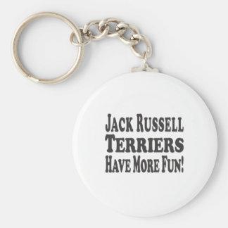 ¡Los terrieres de Jack Russell se divierten más Llavero Personalizado