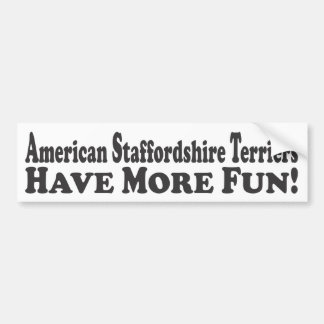 ¡Los terrieres de Staffordshire americano se divie Pegatina Para Auto