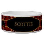 Los terrieres/los escoceses escoceses de la tela e bol para perro