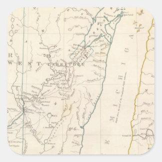 Los territorios del nanovatio y de Mich Pegatina Cuadrada
