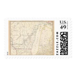 Los territorios del nanovatio y de Mich Timbre Postal