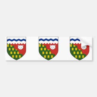 los territorios del noroeste, Canadá Etiqueta De Parachoque