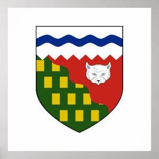 los territorios del noroeste, Canadá Poster