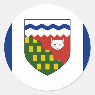 los territorios del noroeste, Canadá Pegatina Redonda