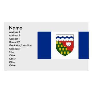 los territorios del noroeste, Canadá Plantilla De Tarjeta De Visita