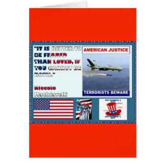Los terroristas americanos del abejón de la fuerza tarjetón