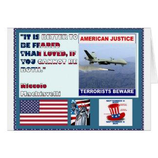 Los terroristas americanos del abejón de la fuerza tarjetas