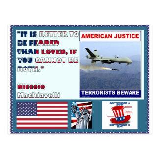 Los terroristas americanos del abejón de la fuerza tarjetas postales