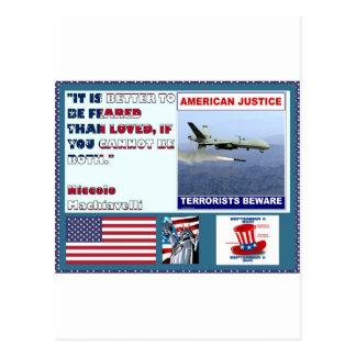 Los terroristas americanos del abejón de la fuerza postales