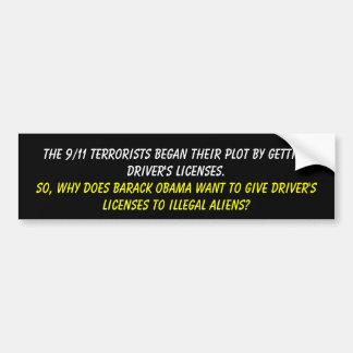 Los terroristas de 9/11 comenzaron su diagrama con pegatina para auto