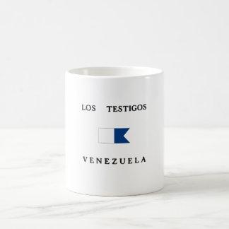 Los Testigos Venezuela Alpha Dive Flag Coffee Mugs