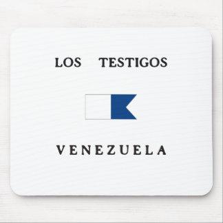 Los Testigos Venezuela Alpha Dive Flag Mousepads