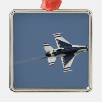 Los Thunderbirds de la fuerza aérea de los Adorno Navideño Cuadrado De Metal
