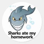 Los tiburones comieron mi preparación etiquetas redondas