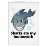 Los tiburones comieron mi preparación tarjeta