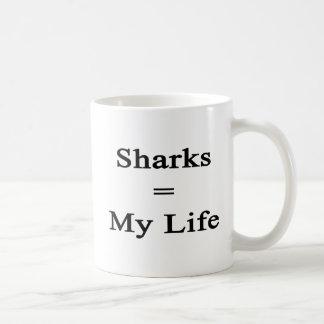 Los tiburones igualan mi vida taza de café