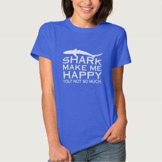 Los tiburones me hacen feliz playera