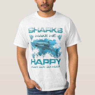 ¿Los tiburones me hacen feliz, usted? no tanto Polera