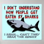 Los tiburones - oiga la muestra divertida del post poster