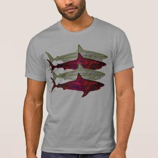 los tiburones peligrosos, tienen cuidado camisetas