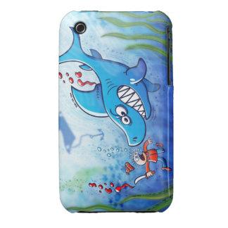 ¡Los tiburones son furiosos paran Finning iPhone 3 Funda