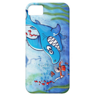 ¡Los tiburones son furiosos paran Finning iPhone 5 Case-Mate Carcasa