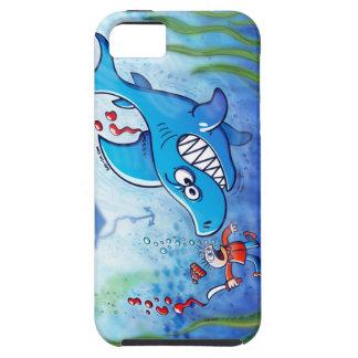 ¡Los tiburones son furiosos paran Finning iPhone 5 Case-Mate Cobertura