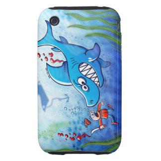 ¡Los tiburones son furiosos paran Finning iPhone 3 Tough Funda