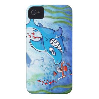 ¡Los tiburones son furiosos paran Finning iPhone 4 Funda