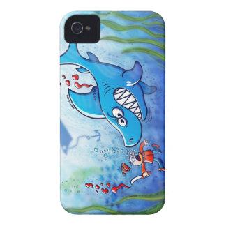¡Los tiburones son furiosos paran Finning iPhone 4 Protectores