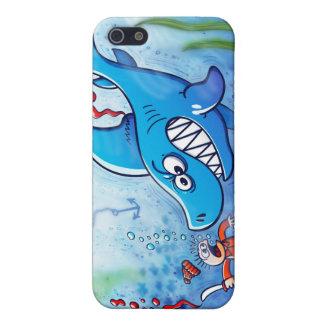 ¡Los tiburones son furiosos paran Finning iPhone 5 Carcasa