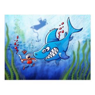 ¡Los tiburones son furiosos, paran Finning! Postal