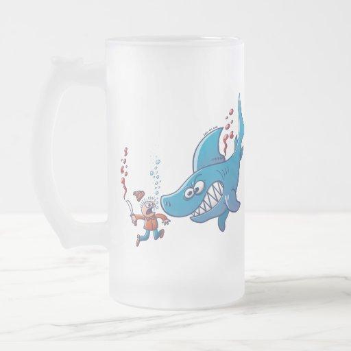 ¡Los tiburones son furiosos, paran Finning! Taza De Cristal