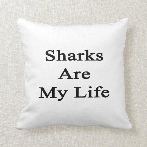 Los tiburones son mi vida almohadas