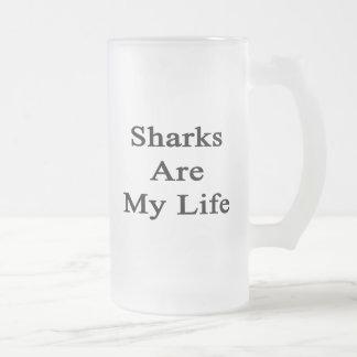 Los tiburones son mi vida taza de café