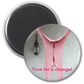 Los tiempos están cambiando imán redondo 5 cm