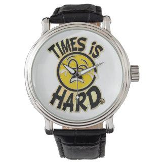 Los tiempos son reloj duro