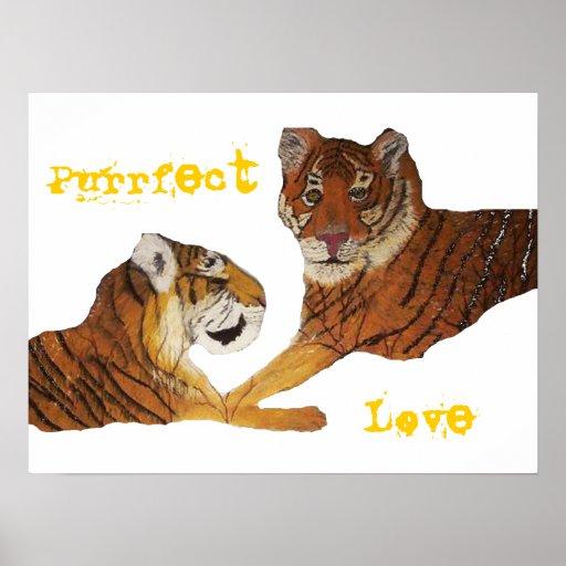 Los tigres perfeccionan amor impresiones