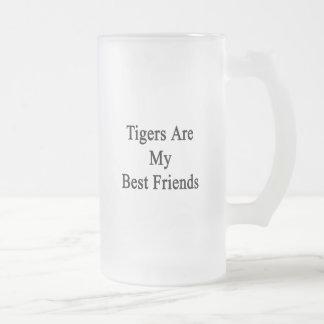 Los tigres son mis mejores amigos taza de cristal