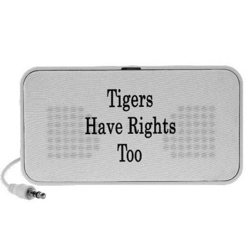 Los tigres tienen derechas también iPod altavoces