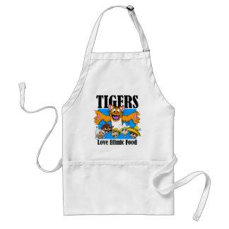 Los tigres tienen gusto de la comida étnica