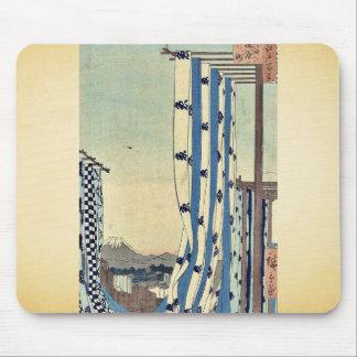 Los tintóreo cuartean, Kanda por Ando, Hiroshige U Alfombrilla De Raton