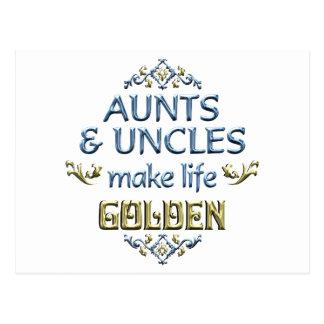 Los tíos de las tías hacen vida de oro postales