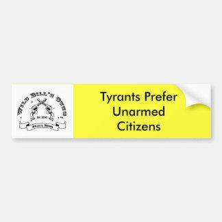 Los tiranos prefieren a ciudadanos desarmados pegatina para auto