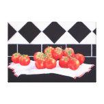 Los tomates del verano impresión en lona estirada