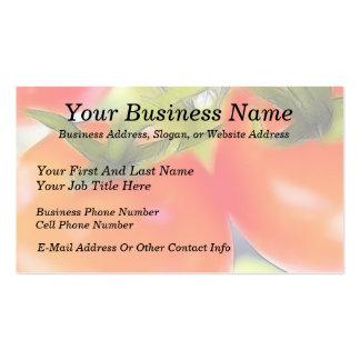 Los tomates se cierran para arriba tarjetas de visita