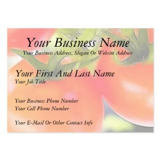 Los tomates se cierran para arriba plantilla de tarjeta personal