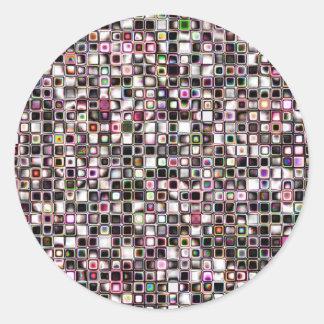 Los tonos apenados de la joya texturizaron el mode etiqueta redonda